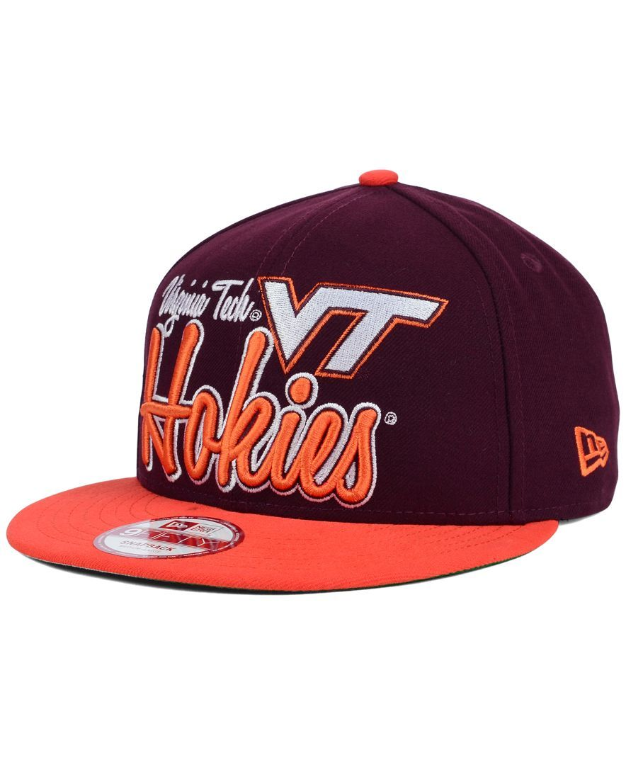 New Era Virginia Tech Hokies Team Script 9FIFTY Snapback Cap ... 084d5fd534bd