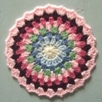 Crochet Mandala Wheel made by Junko, Germany, for yarndale.co.uk