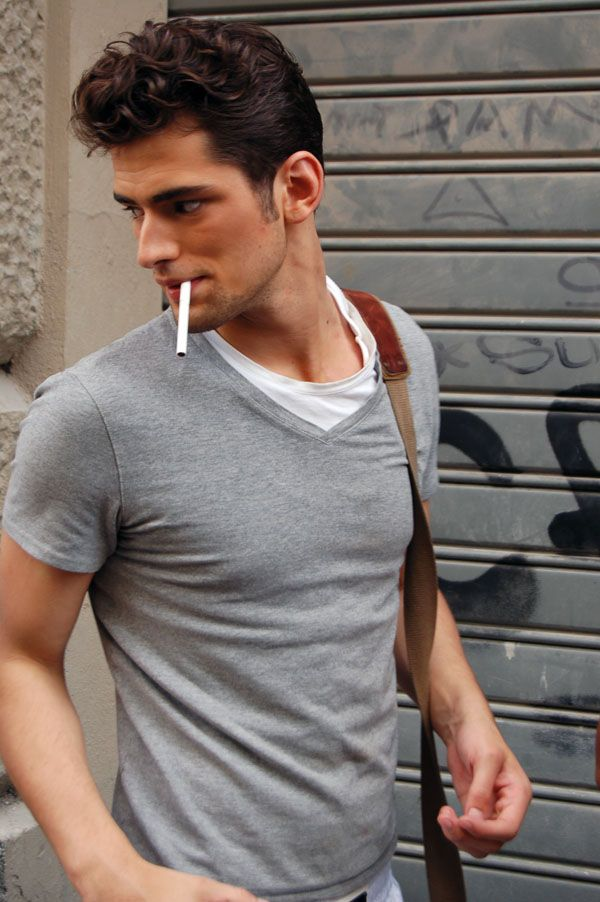 Gray & white, but without the cigarette please