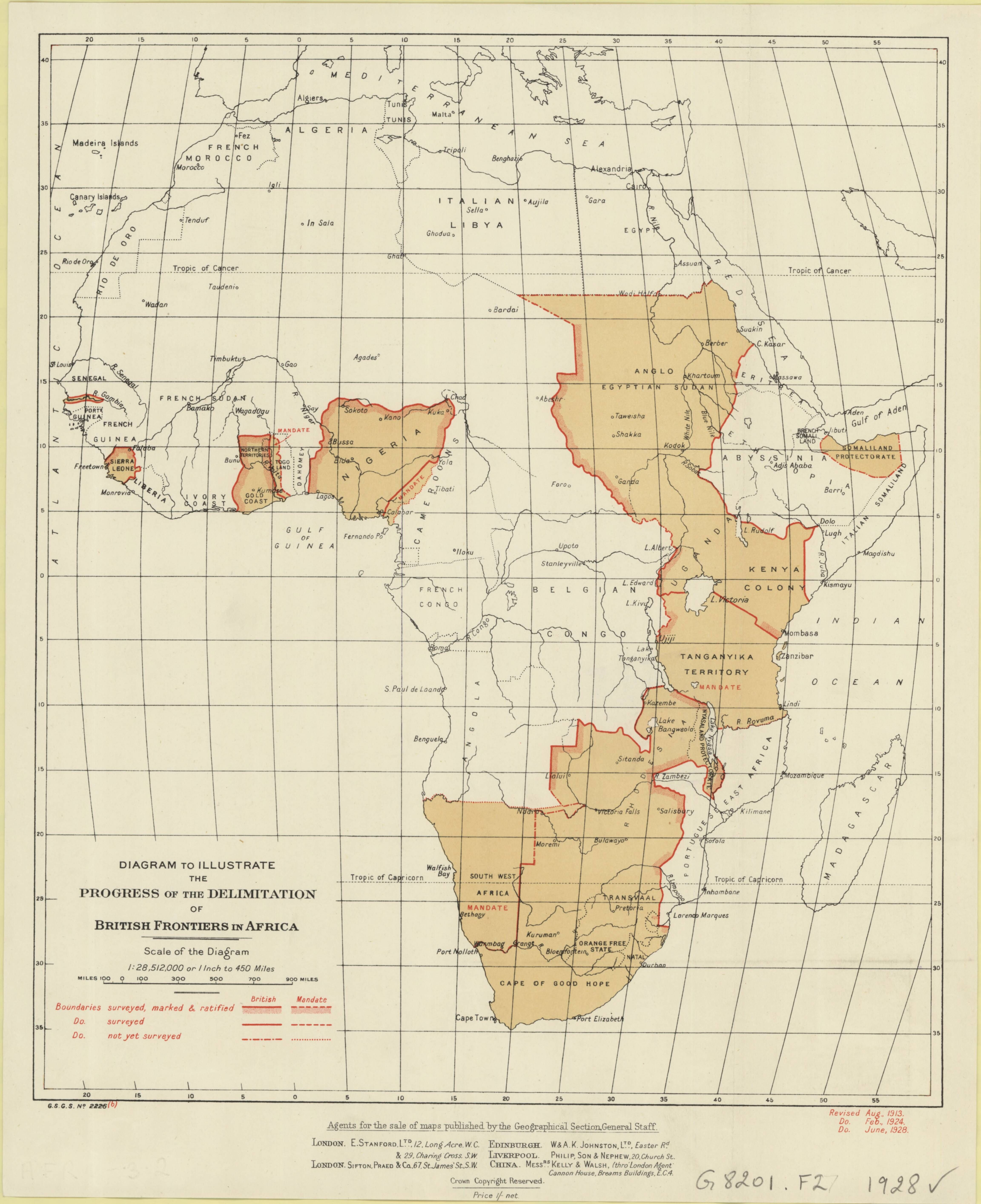 1928 political map of africa showing boundaries of british 1928 political map of africa showing boundaries of british territories in one of three states ccuart Gallery