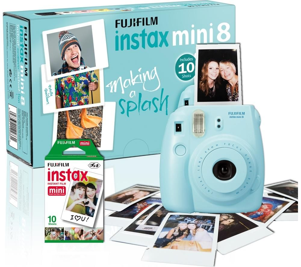 Buy FUJIFILM Instax Mini 8 Instant Camera & 10 Shot Bundle - Blue   Free Delivery   Currys