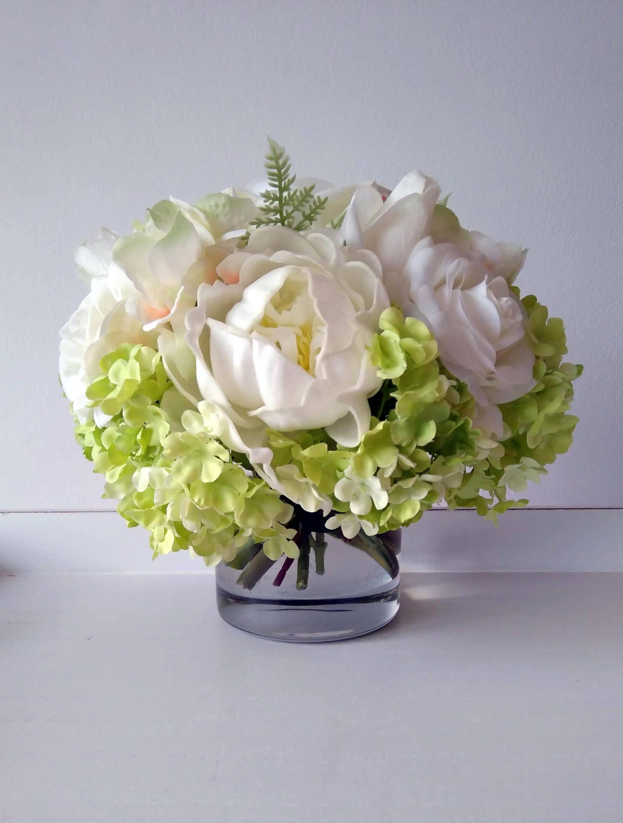 Artificial Flowers Centrepiece Real Touch Floral Arrangement Home