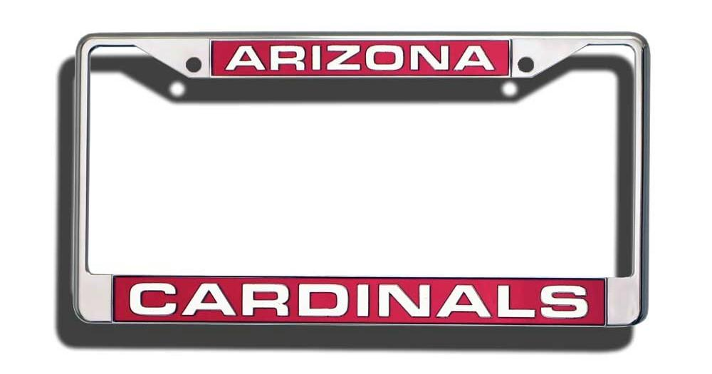 Arizona Cardinals Laser Cut Chrome License Plate Frame | License ...