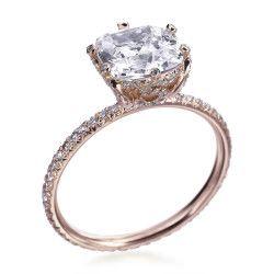 oh. my. word. six prong rose gold pave setting with peekaboo diamonds.