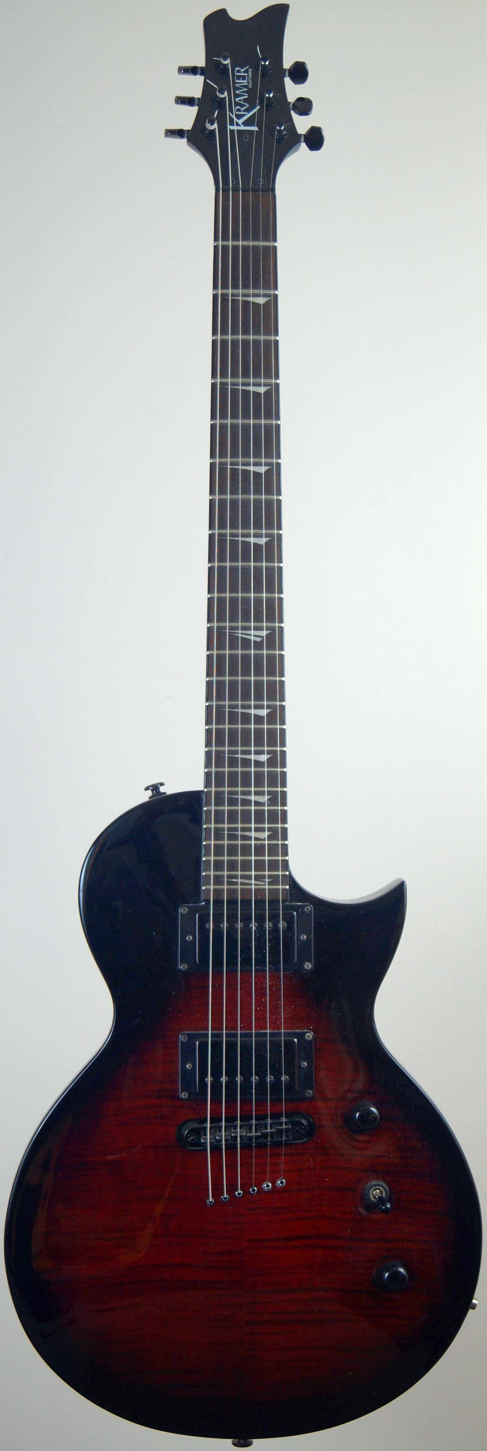 "My ""darkburst"" Kramer Assault 220 at Ukulele Corner incorporating the Pony Guitar Sanctuary"