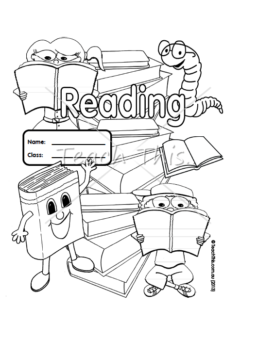 Reading - Book Cover - Printable Book Covers for Primary School - Teacher Resources :: Teacher Resources and Classroom Games :: Teach This