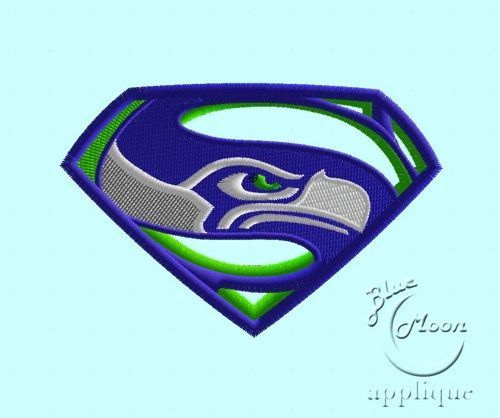 Seattle Football Seahawks Design Embroidery Machine 4 X 4 Instant