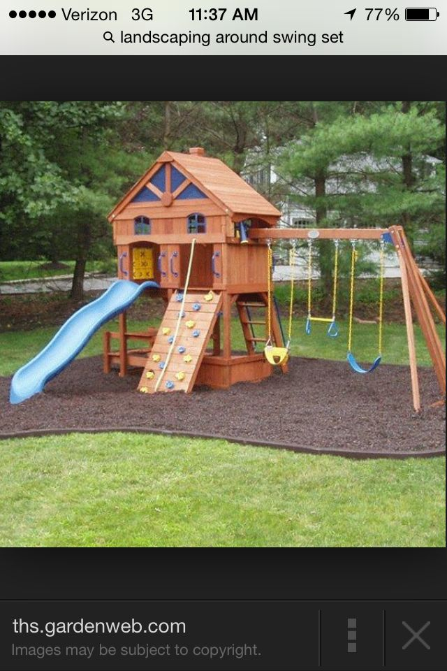 Landscaping Around Swing Set Outside Fun In 2018 Pinterest