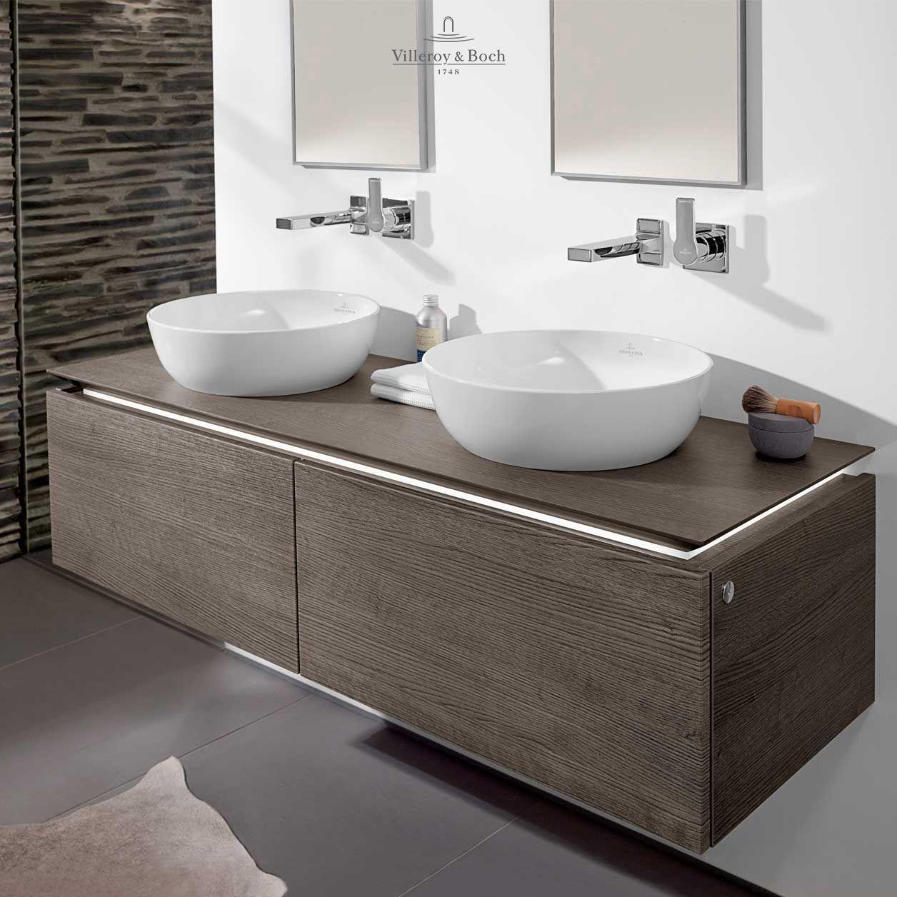Oak Graphite Villeroy Boch Bathroom Furniture Bathroom Planner