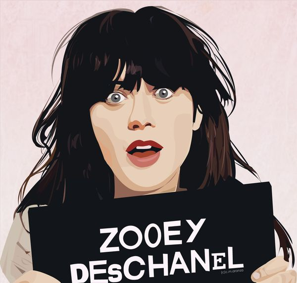 Zooey Deschanel by Claudine Marie Aranza, via Behance