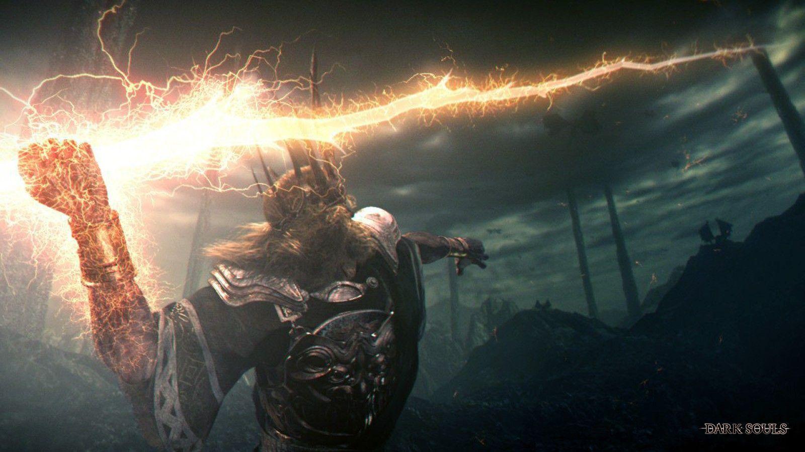 Dark Souls Lightning Bolt Wallpaper 3032967 Wallbasecc