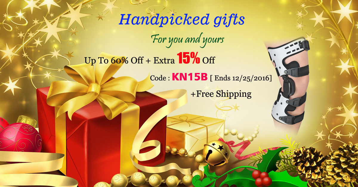 Handpicked gifts for you and yours Up to 60% off + extra 10% off code: KN15B [Ends 12/25/2016] + Free Shipping #kneebrace