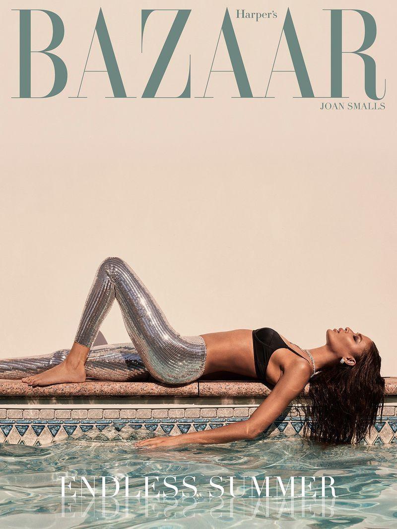 Joan Smalls Takes a Dip in the Pool for Harper's Bazaar Greece