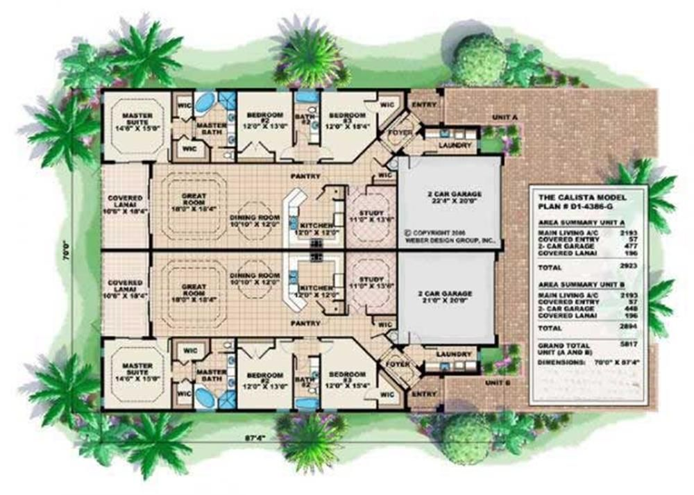 Large House Plans 1000 images about house plans on pinterest courtyard house plans courtyards and house plans Large Duplex House Plans