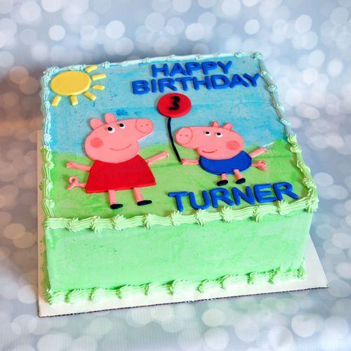 Astounding Peppa Pig Birthday Cake Roanoke Va Pig Birthday Cakes Peppa Pig Personalised Birthday Cards Beptaeletsinfo