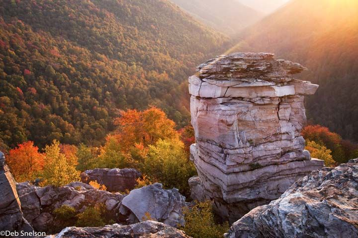West Virginia Autumn | Last Rays At Lindy Point, Blackwater Falls State  Park, West