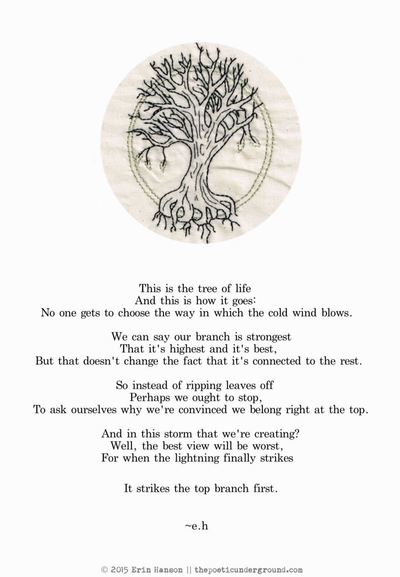 The Tree Of Life Eh W O R D S Poems Quotes Tree Of Life Quotes