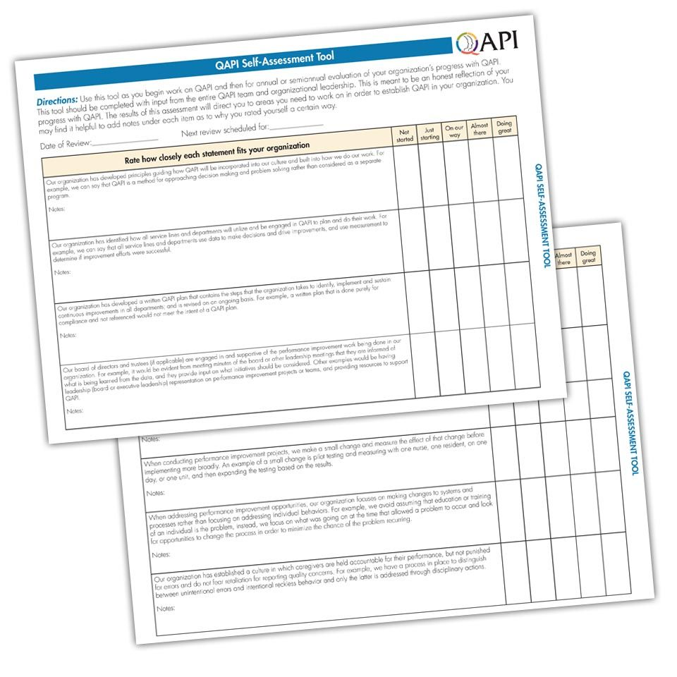 QAPI SelfAssessment Tool atom Alliance Assessment