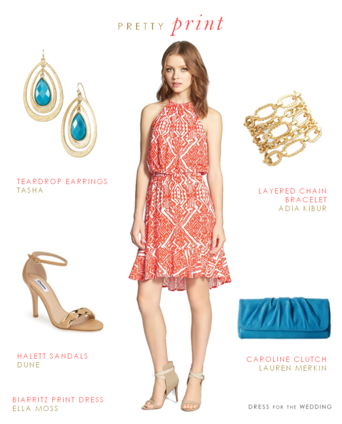 Summer Wedding Outfit Ideas: Printed Dresses For Summer Wedding Guests