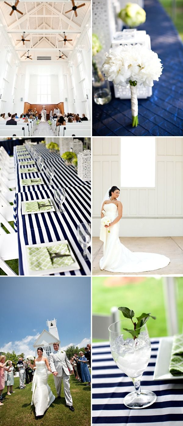 Stripes at a wedding? and navy!?