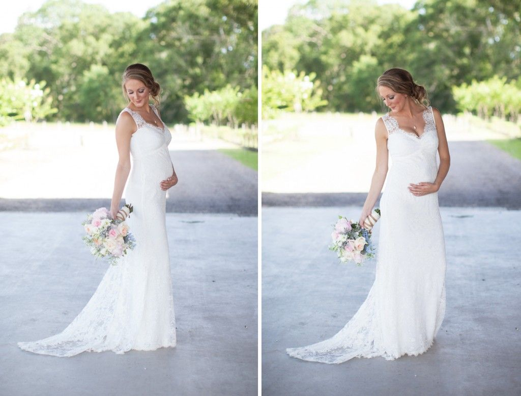 Beautiful Pregnant Bride - Such A Gorgeous Gown