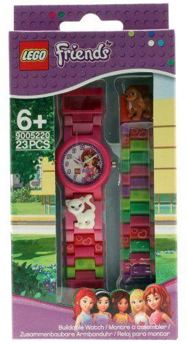 dd9162382277 LEGO 9005220 – Reloj analógico de cuarzo para niña con correa de plástico