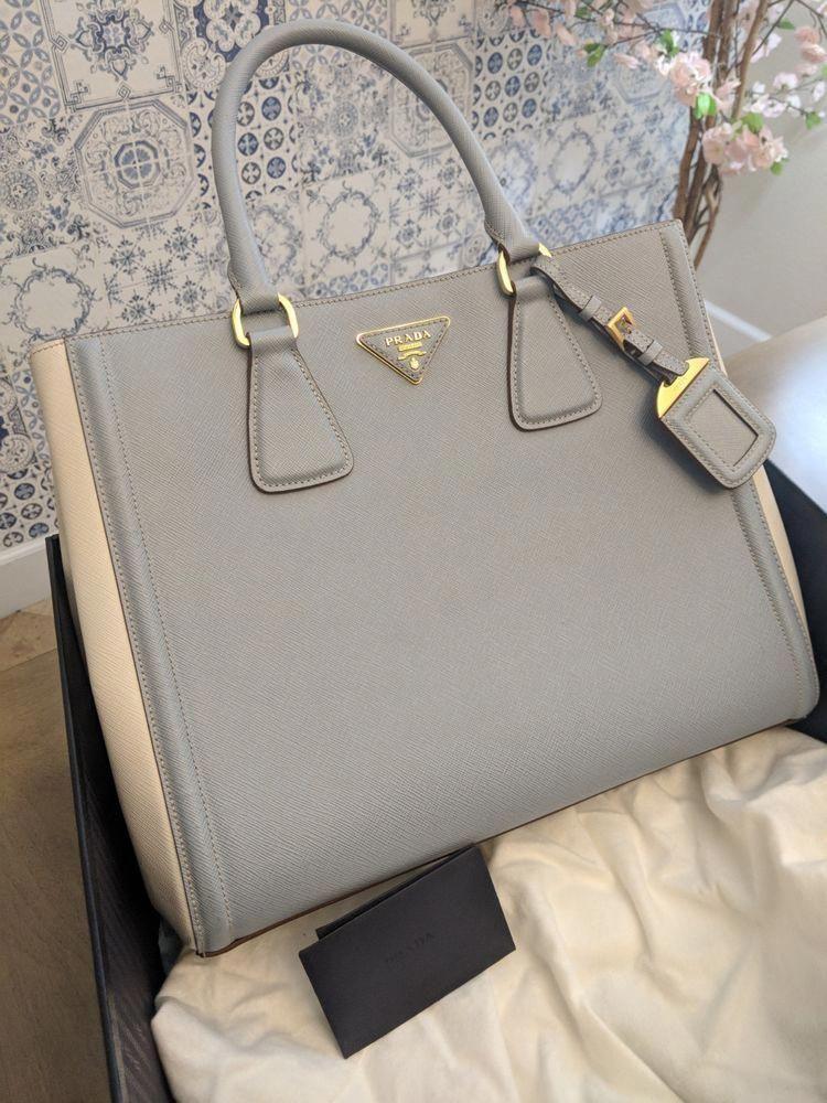 b424e6d5a3 ... where can i buy original prada handbag shoulder bag white blue bn2438  with box fashion clothing