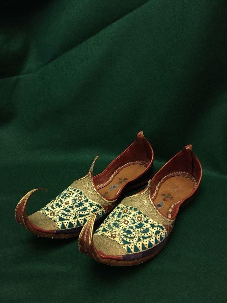 4144e14c352 Ornate Handmade Ceremonial Dance Traditional Costume Shoes Turkish Thai  Persian