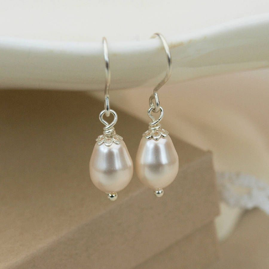 Simple Ivory Pearl Drop Earrings By Jewellery Made Me Notonthehighstreet