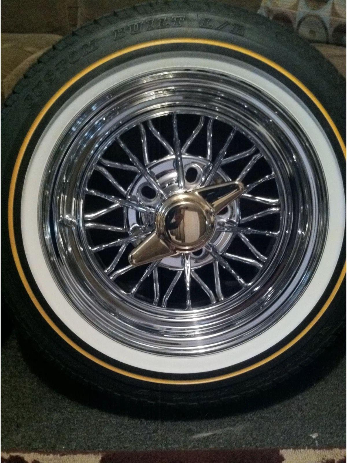 14x6 Cragar 30 Spoke Starwire Wheels With Vogue Tires Www Chopshopmagazine Com Wheel Cool Old Cars Custom Classic Cars