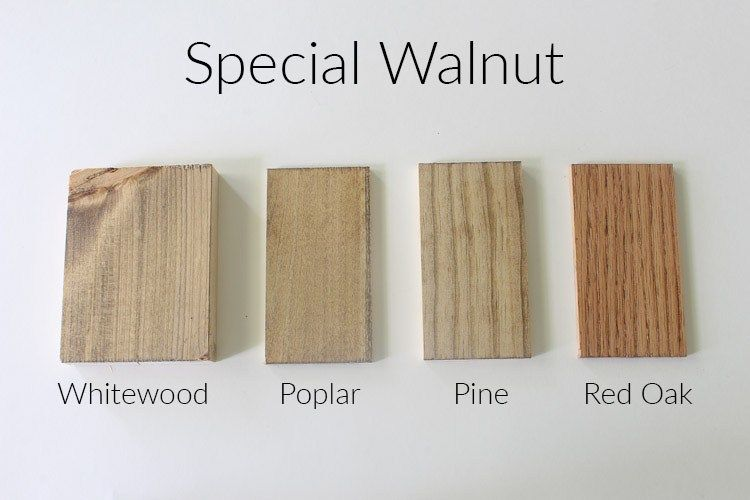 How 10 Different Stains Look On Different Pieces Of Wood With Images Stain On Pine Staining Wood Special Walnut Stain