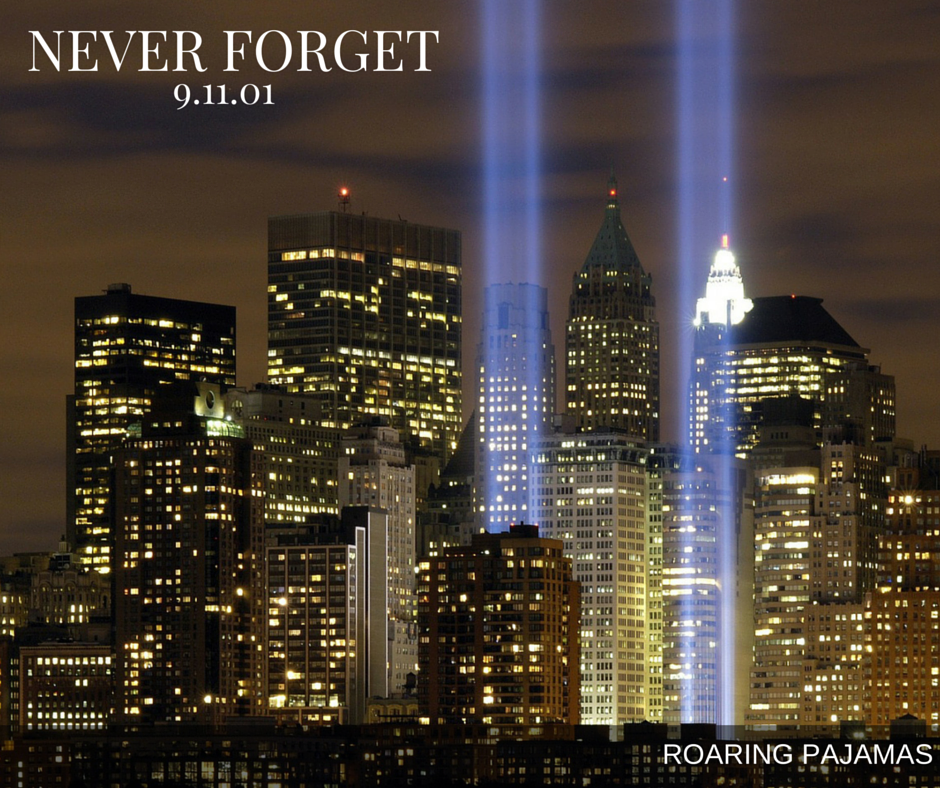 Taking a moment to remember all of those who lost their lives on September 11, 2001. We will never forget.
