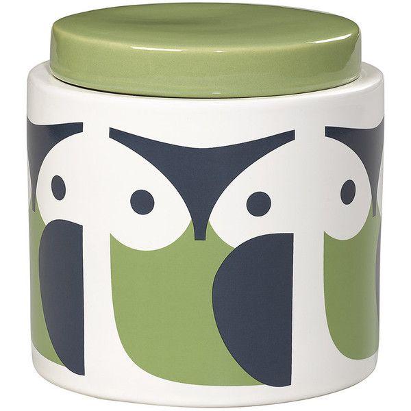 Orla Kiely Storage Jar Owl 1L 36 liked on Polyvore