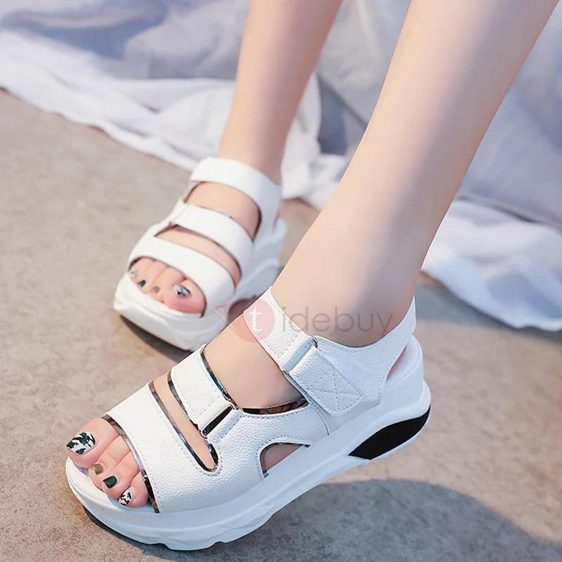 Velcro Sandals Platform TideBuyTideBuy Womens PU Sports 5c34LRAqjS