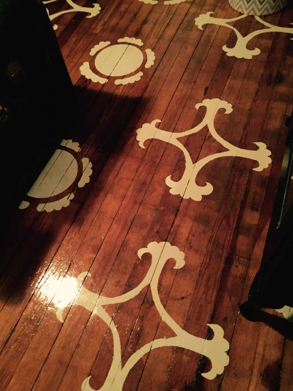 Floor stencil. Turned out great!