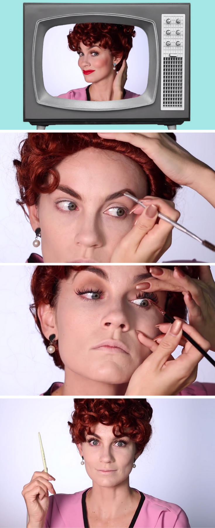 Have Fun following this tutorial to look like Lucille Ball