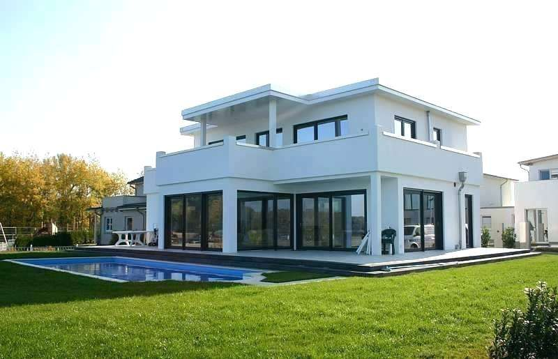 Moderne Stadtvilla Grundriss Mit Flachdach Architektur Anbau House Styles House Bauhaus