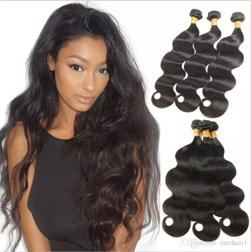 3 Bundles Peruvian Human Hair Body Wave Wet And Wavy Hair Extensions Unprocessed Virgin Hair Bundles Natural Wet And Wavy Hair Human Hair Wavy Hair Extensions