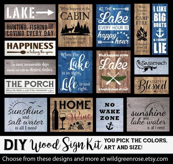 Doityourself wood sign kit. Includes everything to make