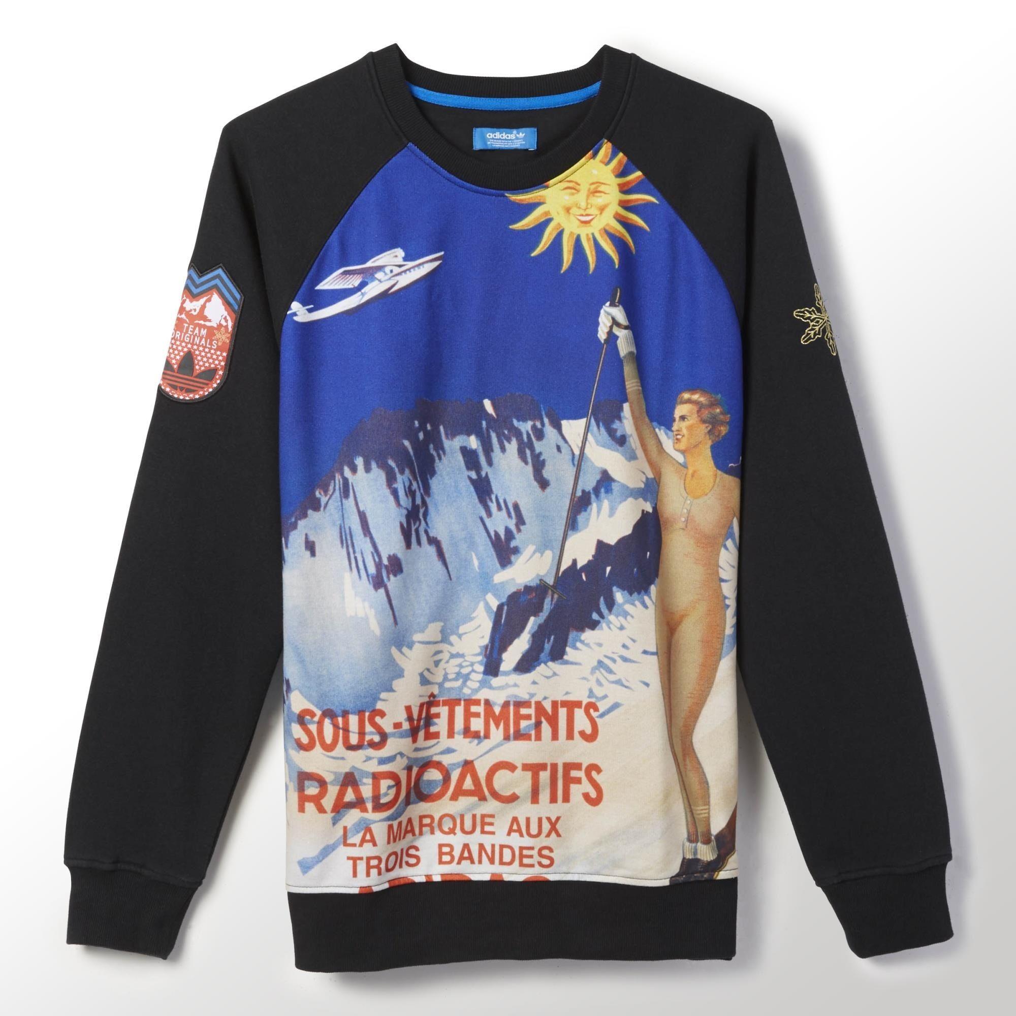 adidas Radioactif Art Fleece Crew Sweatshirt | adidas US