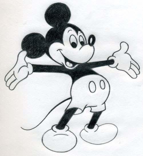 mickey mouse zeichnen anleitung dekoking com 5. Black Bedroom Furniture Sets. Home Design Ideas