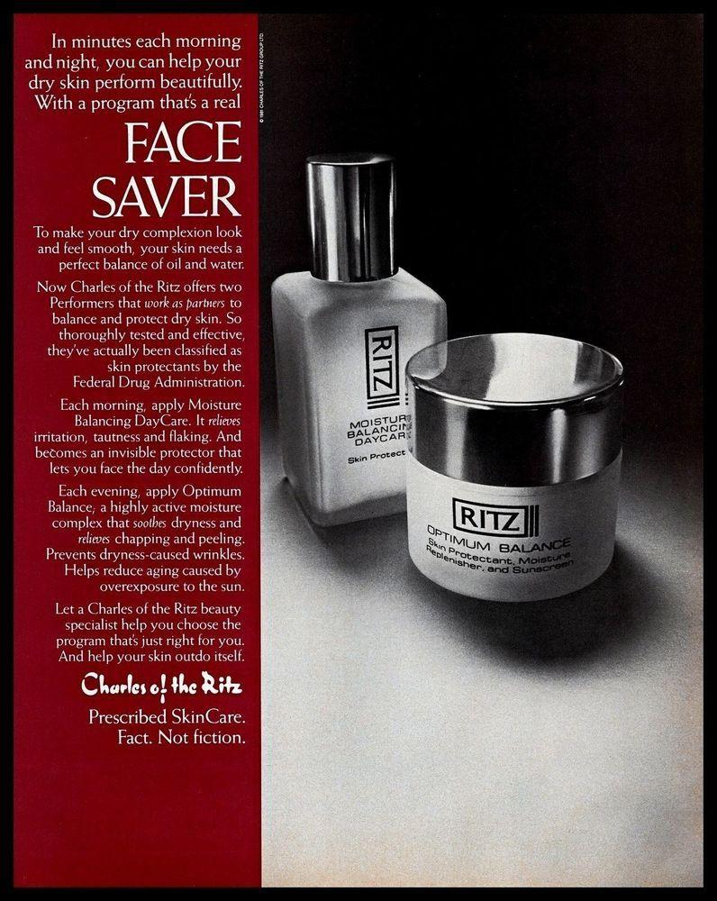 1983 Charles Of The Ritz Optimum Balance Skin Care Vintage Print Advertisement Ebay Charles Of The Ritz Vintage Cosmetics Skin Care