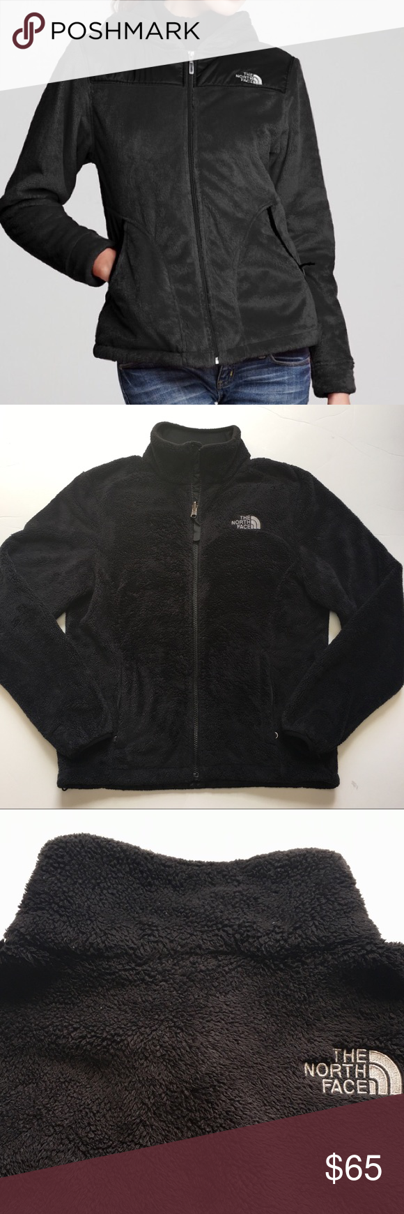 The North Face Oslo Fuzzy Jacket Black Fashion Clothes Design Fuzzy Jacket [ 1740 x 580 Pixel ]