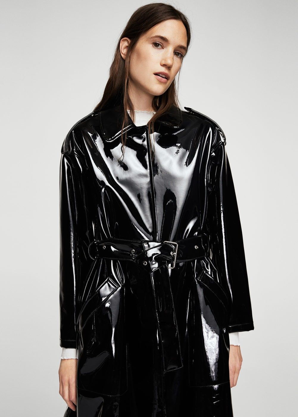 belt vinyl trench women trench raincoat and latex. Black Bedroom Furniture Sets. Home Design Ideas
