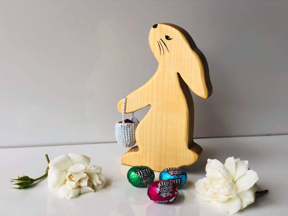 Excited To Share This Item From My Etsy Shop Easter Bunny Wooden