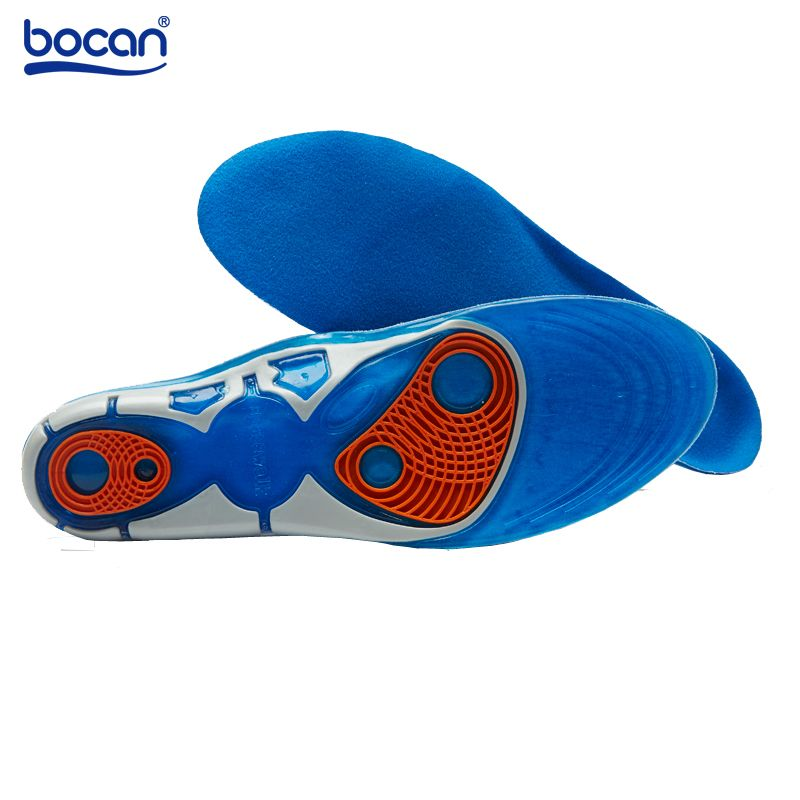 9c3eab2d00 Silicon Gel Insoles Foot Care for Plantar Fasciitis Heel Spur Running Sport Insoles  Shock Absorption Pads for men and women 6629-in Insoles from Shoes on ...