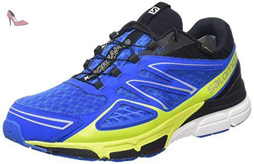 Salomon X-Scream 3D, Chaussures de Running Entrainement homme, Multicolore (Union Blue/Black/Gecko Green), 47 1/3 EU - Chaussures salomon (*Partner-Link)