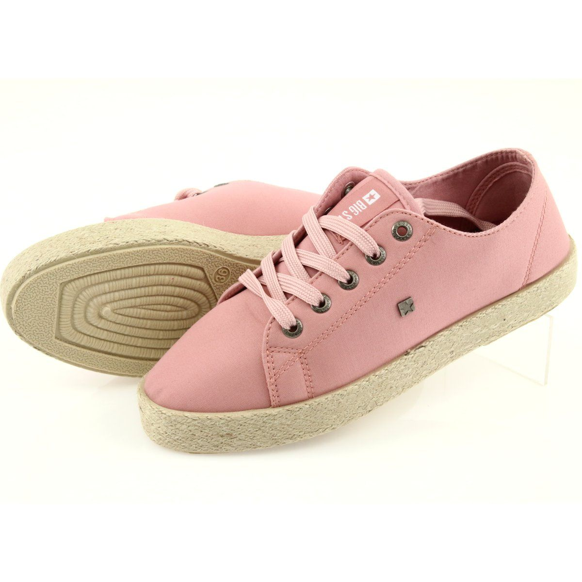 Balerinki Espadryle Buty Damskie Rozowe Big Star 274425 Ballerina Espadrilles Women Shoes Espadrilles