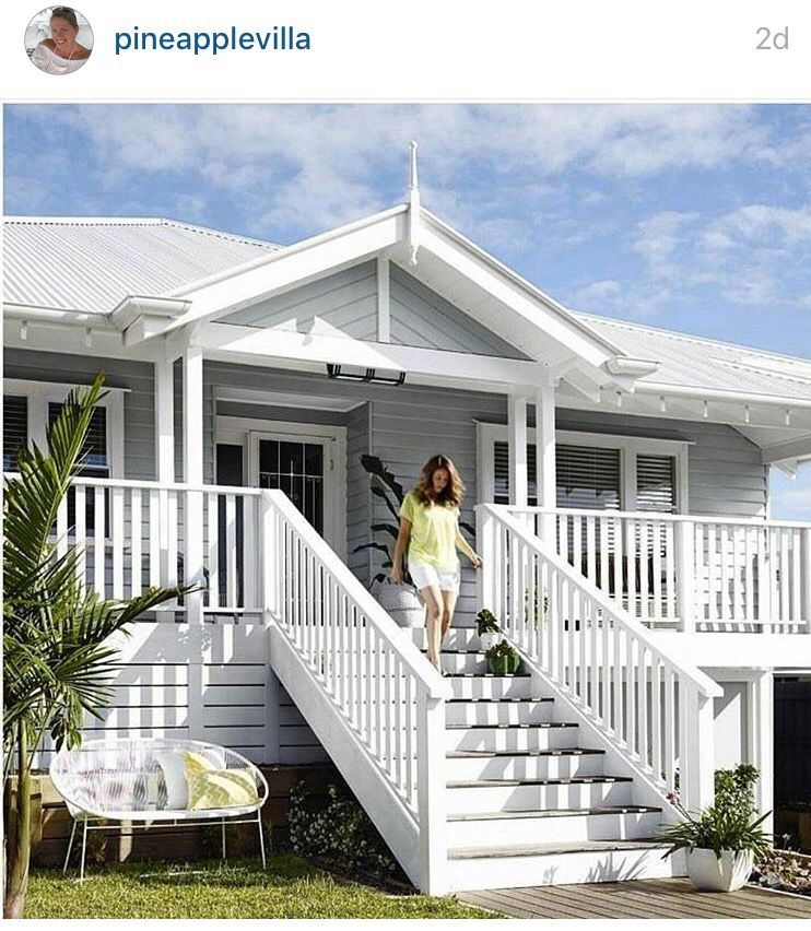Cute cottage beach house exterior weatherboard house