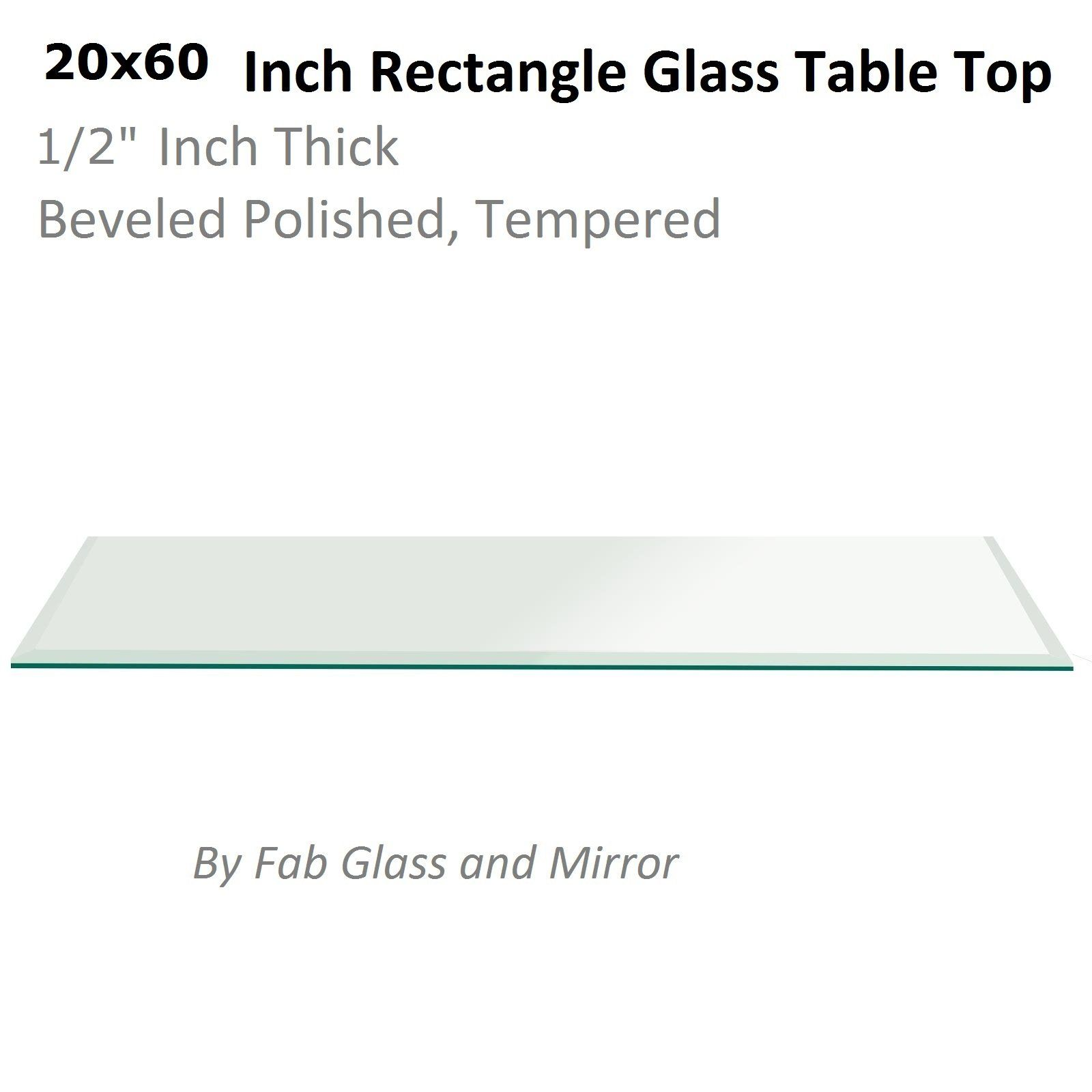Fab Glass And Mirror 20 X 60 Inch Rectangle Glass Table Top 1 2 Thick Beveled Tempered Radius Corners Find Out More Abou Glass Top Table Table Top Rectangle